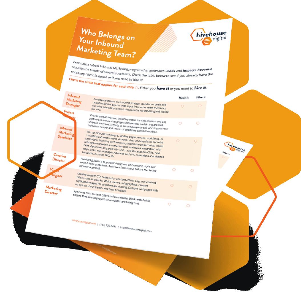Inbound Marketing Team Checklist Preview