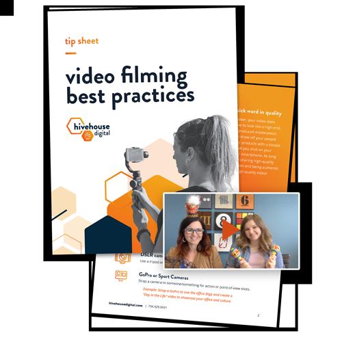 Video Recording Best Practices Tip Sheet